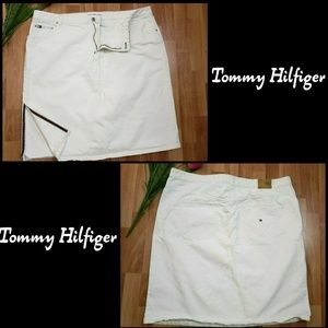 Tommy Hilfiger Woman Denim Jeans Skirt Sz 22 White